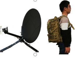 0. 5 m Ka频段便携式手动对星天线