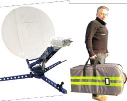 0.75 m Ka频段便携式手动对星天线